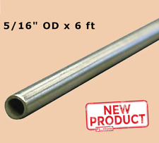Round Tubing 516 Inch Od X 6 Ft Welded 0257 Stainless Steel Inside Dia New