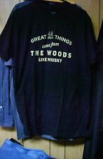 Great Things Come From The Woods Like Whisky Cabin Fever. T-Shirt Adult M