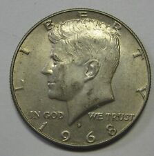 Circulated 1968-D John Kennedy 40% Silver Half Dollar Priced Right Shipped FREE