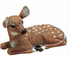 Laying Fawn Baby Deer Outdoor Animal Garden Statue