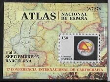 Spanish Stamps - 1995 17th Int Cartography Conf Barcalona Sheet MNH Condition