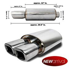 For: IS300 DTM Dual Square Axle Back Weld On Muffler Exhaust