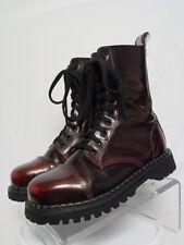 DEMONIA ROCKY 10 Men-7 Women-9 Burgundy Leather Goth Punk Steel Toe Combat Boots