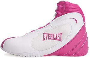 Everlast Michelin Hydrolast Defigo LoTop Boxing Boot Unisex White/Pink 9.5W/7.5M