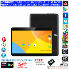 "10.1 ""Android Phone Tablet PC 3G Dual SIM 32GB 1,5 GHz MTK6582 QUAD CORE 2 GB di RAM"