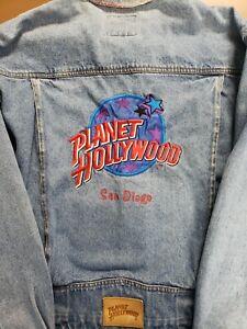 Vintage Planet Hollywood San Diego Denim Jacket Size L