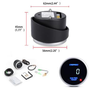 12/24V Digital Display Car Racing Water Temperature Temp Gauge Meter With Sensor