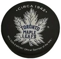 CIRCA 1942 VINTAGE TORONTO MAPLE LEAFS OFFICIAL VICEROY MFG.  NHL PUCK HOF 🇨🇦