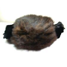 New listing Vintage Large Fur Muff Hand Warmer Black/Brown Estate find