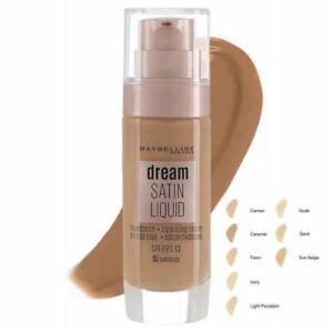 MAYBELLINE Dream Satin Liquid Foundation & Hydrating Serum 30ml-Choose shade NEW