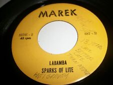 SPARKS OF LITE-STAY WITH ME-LABAMBA-AUTOGRAPHED SIDE 2- VINYL IS NEAR MINT MINUS