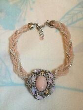 Pink 9 Stranded Necklace With Sparkle