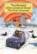 Citroen 2CV6 Special Charleston Tintin Arctic Snowman 1985-86 Original Brochure