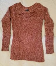 American Eagle Outfitters Women's Knit Sweater Cranberry/White Size X Small