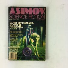 August 1984 Isaac Asimov's Science Fiction Magazine Frederik Pohl Barbara Owens