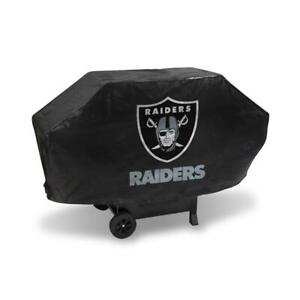 Oakland Raiders Vinyl Padded Deluxe Grill Cover [NEW] NFL Grilling Barbeque