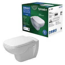 DURAVIT D-Code WC spülrandlos Set mit WC-Sitz Absenkautomatik 45700900A1