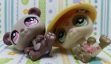 ~Littlest Pet Shop Postcard Panda 2pc LOT - *#594 & #904* w/hat 100% Authentic~
