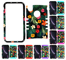 For Apple iPhone XR - KoolKase Armor Hybrid Slicone Cover Case - Flower 64