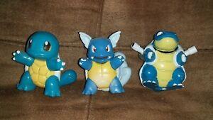 Pokemon Sqirtle Wartortle And Blastoise Figures