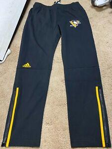 PITTSBURGH PENGUINS 2021 Adidas Locker Room Player Sweatpants Track Pants NEW