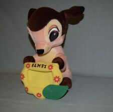 "Plush Disney Bambi Deer SEGA Game Prize 12"" with Photo Frame"
