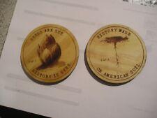 WOODEN COASTERS / SET OF TWO