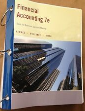 Financial Accounting 7e Tools For Business Decision Making, Wiley TextBook Book
