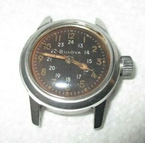 Vintage Bulova Cal. 10 BNCH Stainless Steel Military Watch with Hack