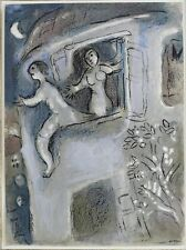 Marc Chagall Russian French 1887-1985 Color Lithograph David Saved by Michael