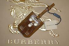 NWT BURBERRY PRORSUM $335 EYELET FRINGE LEATHER LUGGAGE TAG
