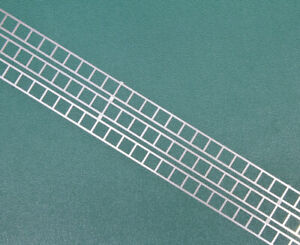 OO gauge large generic etched ladder in stainless steel. Three 175mm lengths.