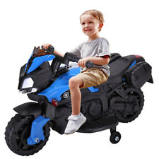 Kids Ride On Motorcycle Battery Powered 4 Wheel Bicycle Electric Toy New Red