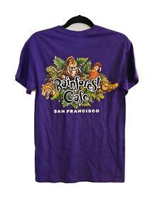 Rainbow Cafe San Francisco Size S Purple Animal Graphic T-shirt Rare