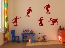 WANDTATTOO Fußballer Fußball 5 Stück extrem cool Kinderzimmer Aufkleber Sticker