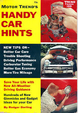 1958 HANDY CAR HINTS Rare info on car care maint & more DODGE FORD CHEVROLET GM