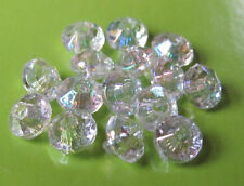 1000 6mm Clear AB Plastic Rondelle Beads Spacer Saucer Faceted  FREE US SHIPPING