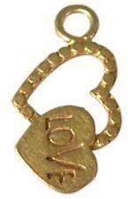 DH42G - 1 Bali 24K Gold Vermeil Love / Heart Charm