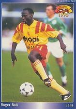 N°064 ROGER BOLI # FRANCE RC.LENS CARD CARTE PANINI FOOT 1995