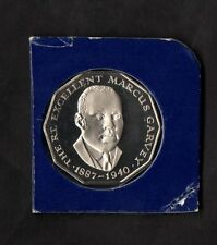 JAMAICA 1976 COPPER-NICKEL 50 CENTS 1976 PROOF MARCUS GARVEY FONDO SPECCHIO