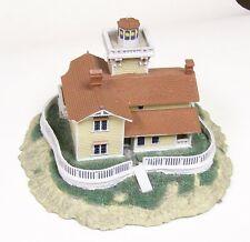 Danbury Mint East Brother Light Station Historic American Lighthouses Chipped