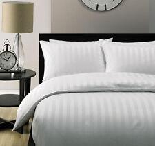Hotel Quality 2cm WHITE STRIPE Luxury Quilt/Duvet Cover Set-Queen Size