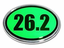 26.2 Marathon Green and Chrome Plated Car Auto Truck Emblem Made in the USA! NEW