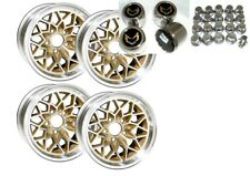 TRANS AM 15X8 SNOWFLAKE WHEEL KIT W/ STAINLESS CENTER CAPS & NEW LUG NUTS - WS6