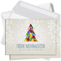 15 Weihnachtskarten mit Umschlag Set Grußkarten Weihnachten Advent Tannenbaum