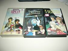 VHS LA LEGGENDA DI ARSLAN ANIME INEDITO DVD MANGA DYNAMIC YAMATO OAV OVA