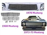 A BIL-FO-48  Grille 1974-1978 FORD MUSTANG Insert Mustang