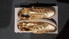 Brand New Steve Madden Women Gold Sneakers Size 7.5m