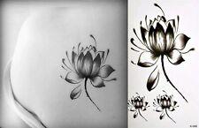 Flash Einmal Temporary Klebe Tattoo Lotus Blüte Blume Party Geschenk Strand Neu