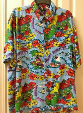 Jimmy Buffet Hawaiian Tour Button Up Short Sleeve Shirt Size Xl Bright colors